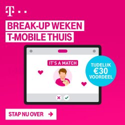 T-Mobile break-up weken banner