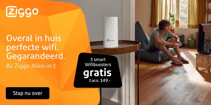 ziggo pakketten met gratis wifi boosters