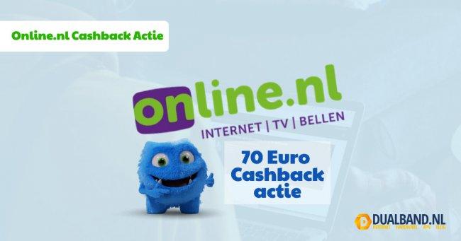 Online.nl cashback actie
